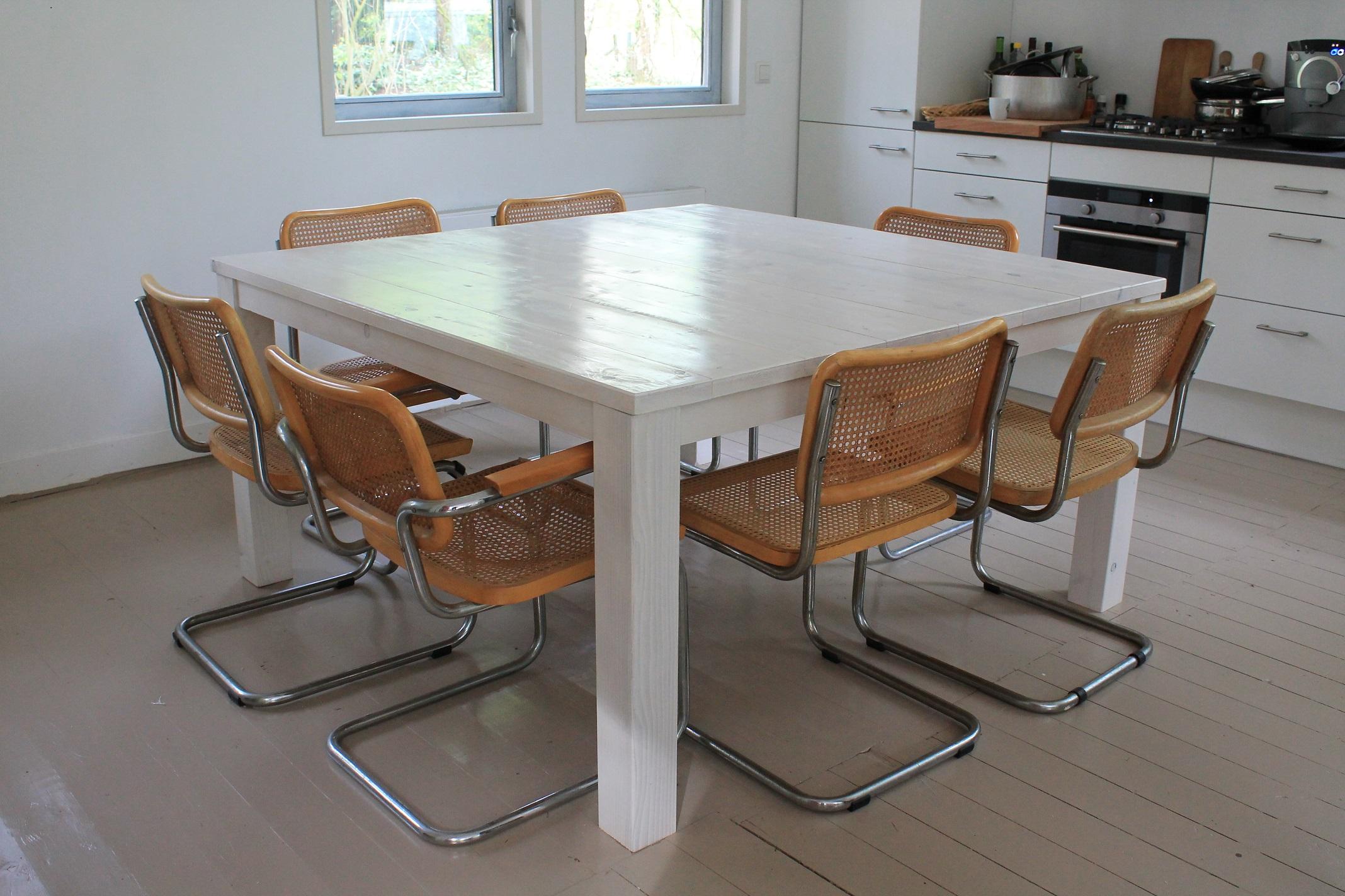 Eetkamertafel Vierkant Wit : Eettafel vierkant