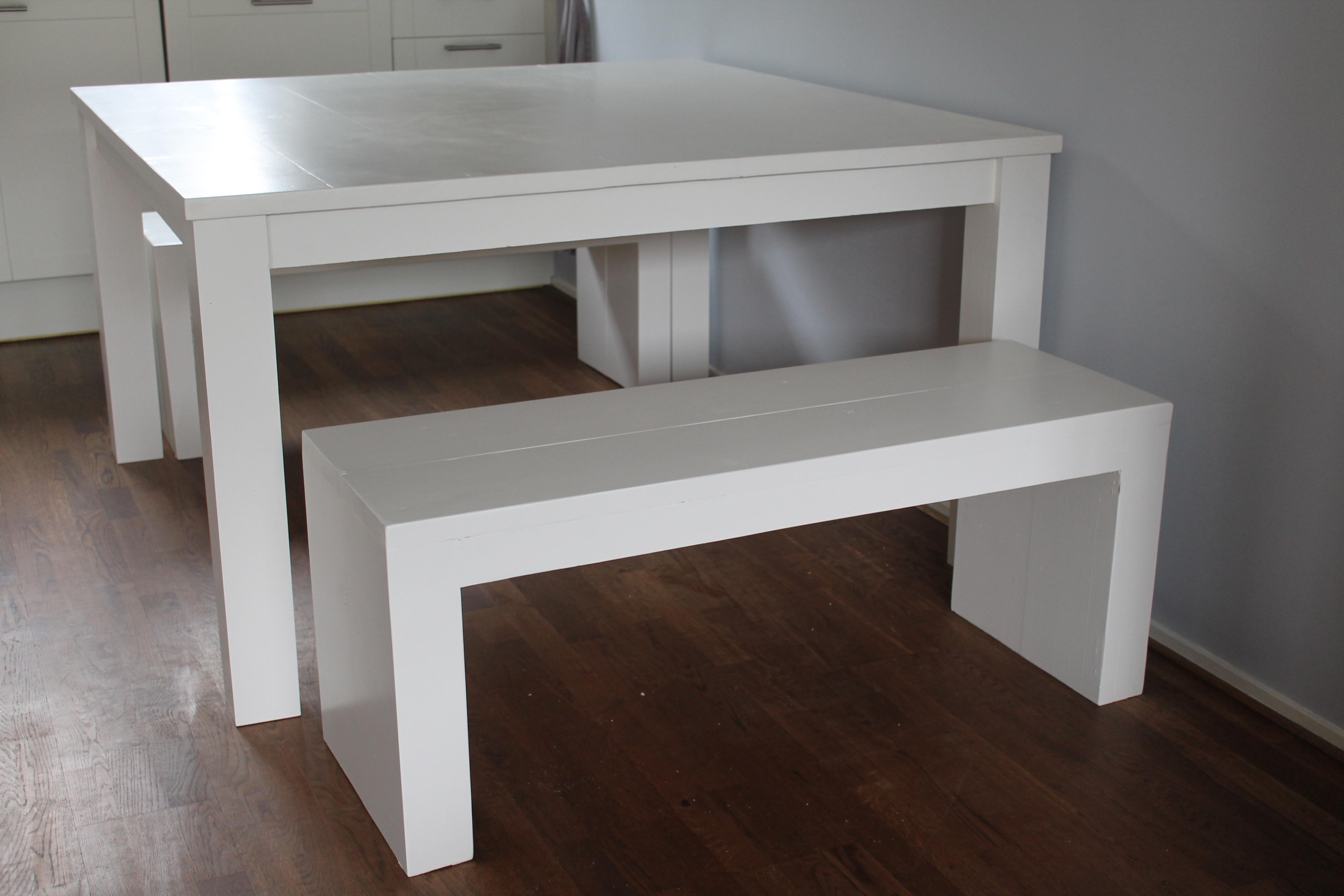Vierkante Eettafel 130x130.Eettafel Vierkant
