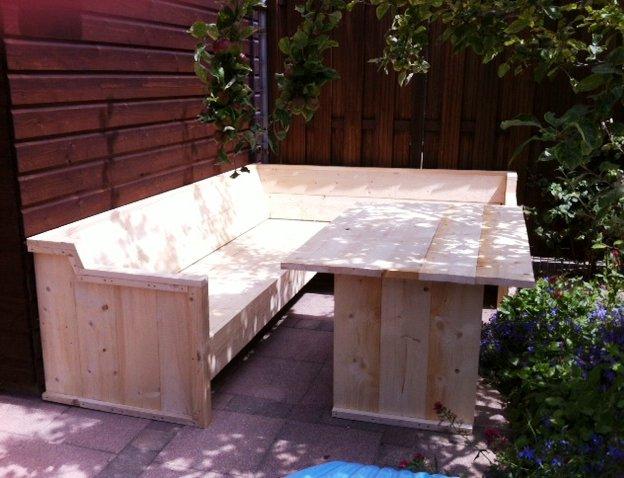 Loungebank met hoge tafel for Hoge eettafels